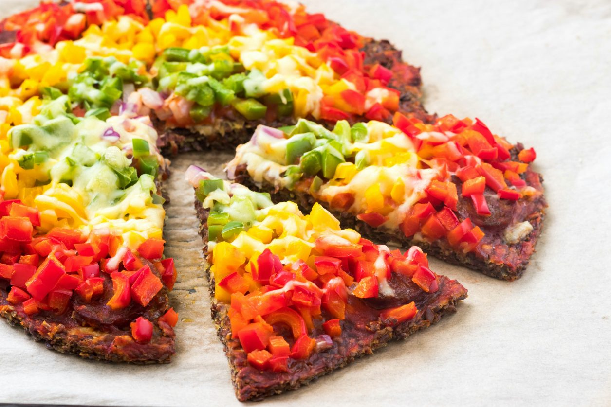 Leinsamen Pizza vegan